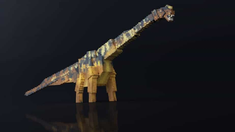Jurassic Depths Minecraft Marketplace Map dinosaur brachiosaurus