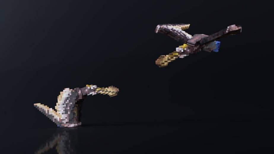 Jurassic Depths Minecraft Marketplace Map dinosaur pterodactyl