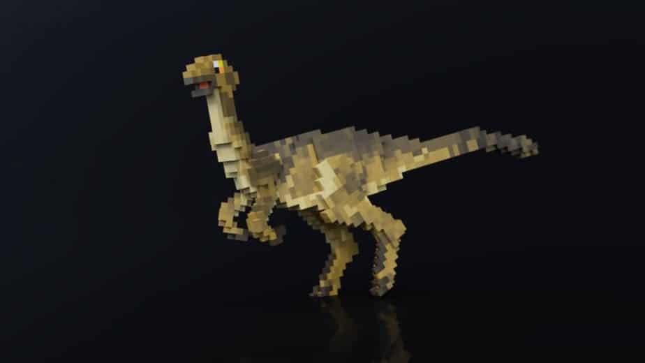 Jurassic Depths Minecraft Marketplace Map dinosaur galimimmus