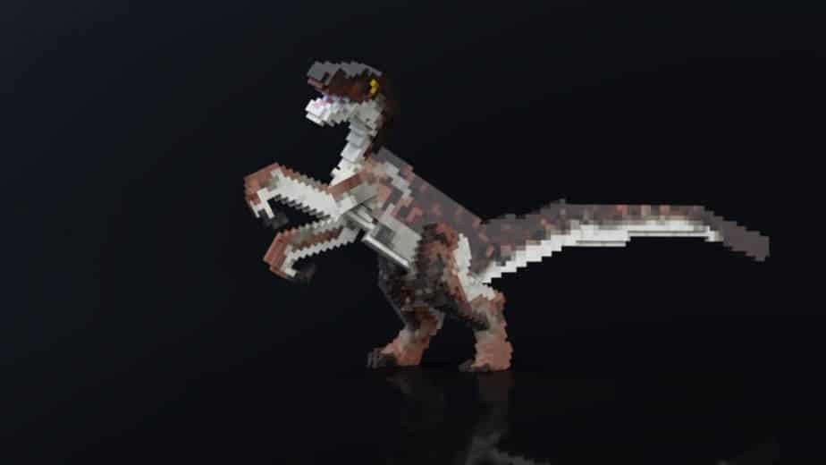 Jurassic Depths Minecraft Marketplace Map dinosaur raptor