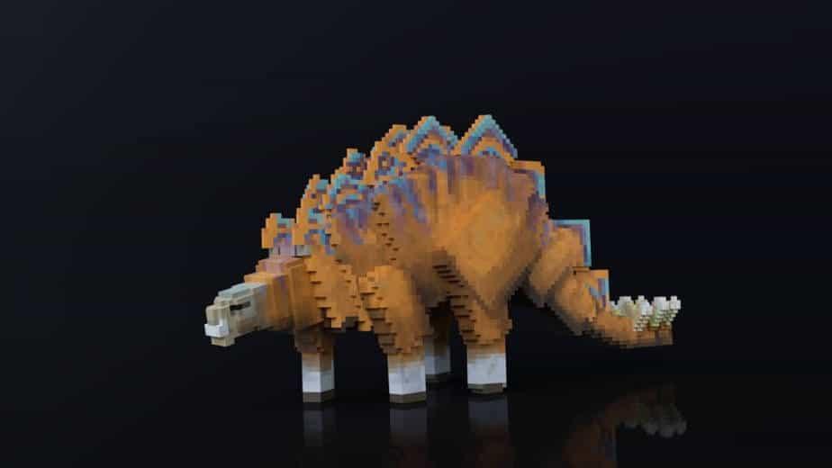 Jurassic Depths Minecraft Marketplace Map dinosaur stegasaurus