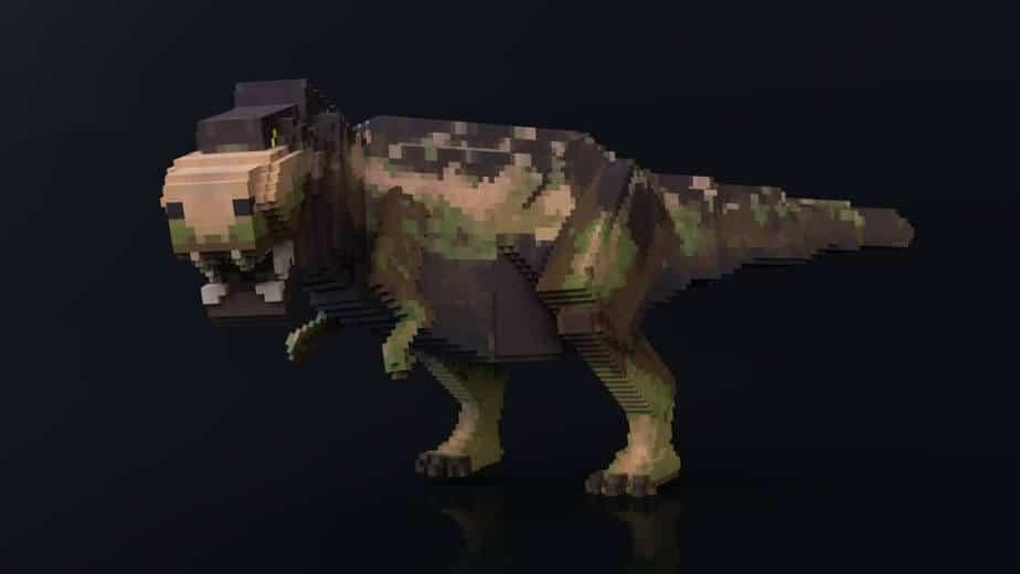 Jurassic Depths Minecraft Marketplace Map dinosaur t-rex