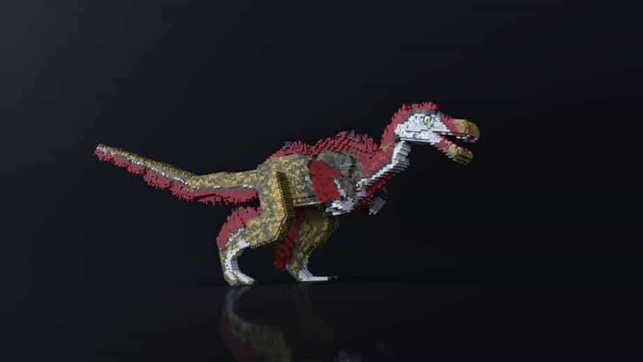 Jurassic Depths Minecraft Marketplace Map dinosaur troodon