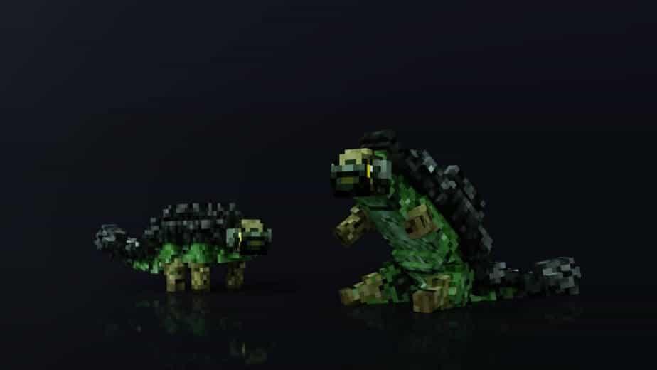 Jurassic Depths Minecraft Marketplace Map dinosaur ankylosaurus
