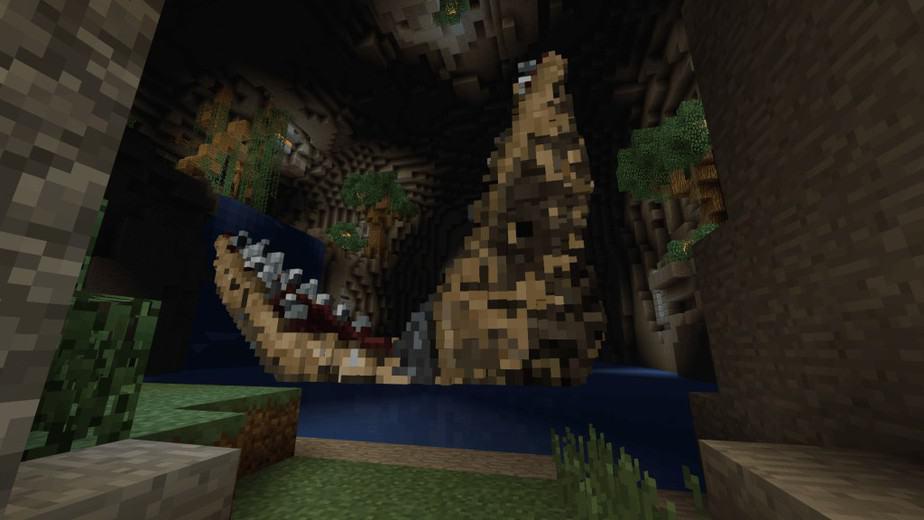 Jurassic Depths Minecraft Marketplace Map dinosaur Mesosaurus