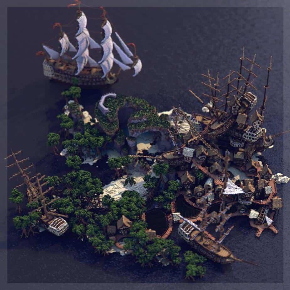 Shipwreck Shantyown Minecraft Marketplace Map Render 3