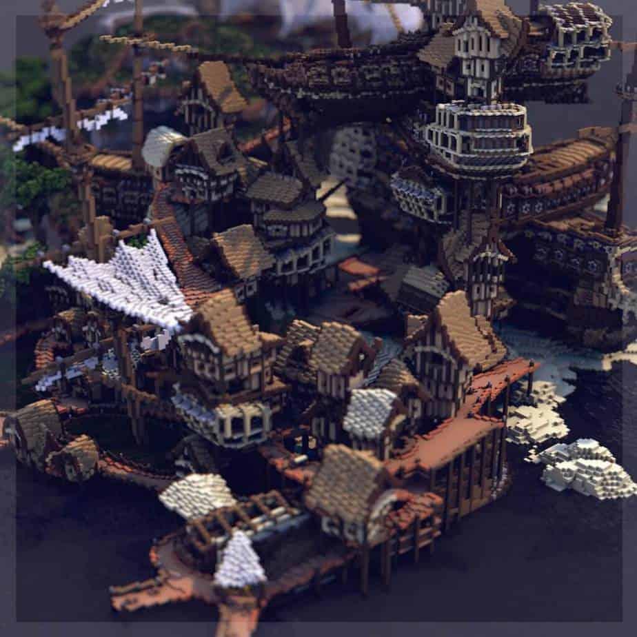 Shipwreck Shantyown Minecraft Marketplace Map Render 2