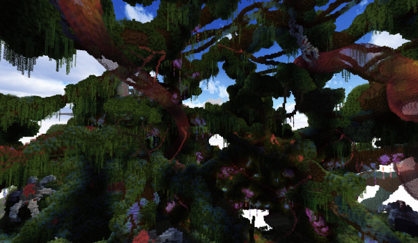 Minecraft Build World Download Everbloom Studios screenshot 9 Vines Nature Bushes