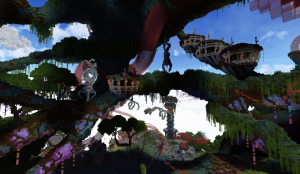 Minecraft Build World Download Everbloom Studios screenshot 11 Treehouse Vines Nature Art