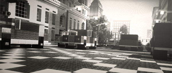 Minecraft New York City Build Everbloom Studios screenshot 6 Traffic Jam