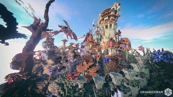 Minecraft Marketplace Map Survival Spawn  Xbox Switch PE Bedrock Everbloom Studios Screenshot 1 Dragon Attack